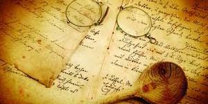 Altes Kochbuch mit Kochlöfel